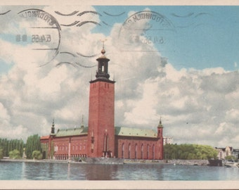 Stadshuset, 1956 Used Postcard from Stockholm, Sweden,  fair shape