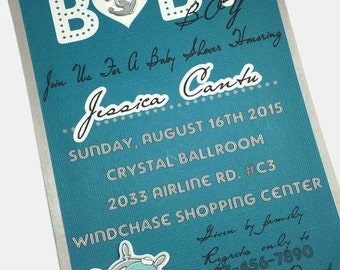 Baby Shower Invitations/ Sailor Whale Invitations/ Baby Boy Invitations/ Blue and Grey invitations/ Set of 10