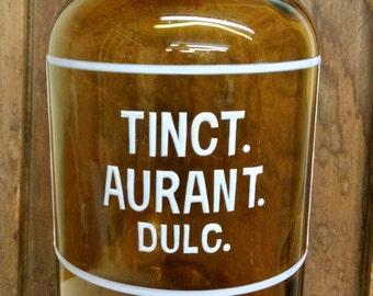 Vintage Glass Medicine Tincture Bottle