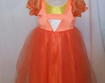 Little Girls Candy Corn costume
