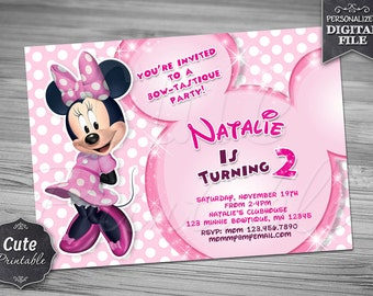 MINNIE MOUSE INVITATION, Minnie, Invitation, Minnie Invitation, Minnie Birthday, Mouse