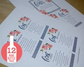 A Year of Firsts - Wine Basket Tags INSTANT DOWNLOAD (for 12 bottle basket)