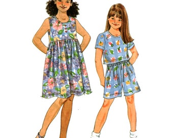 Simplicity Sewing Pattern 8042 Girl's Dress, Top, Shorts  Size:  A  7-16  Uncut