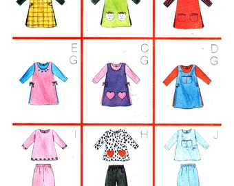 Butterick Sewing Pattern 6232 Girl's Tarard, Dress, Top, Pants  Size:  3-4-5-6  Used