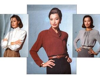 Vogue Sewing Pattern 2725 Misses'/Misses' Petite Blouse by Anne Klein  Size: 14-16-18  Uncut