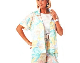 McCalls Sewing Pattern 3631 Misses' Shirt, Shorts  Size:  A 8-10-12  Used