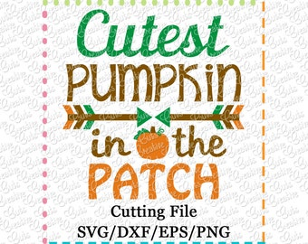 EXCLUSIVE Cutest Pumpkin in the Patch svg, pumpkin svg, thanksgiving svg, autumn svg, pumpkin patch cutie svg, LIMITED commercial use