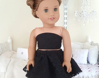 18 inch doll lace skirt and bustier