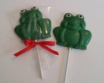 Frog Chocolate Lollipops