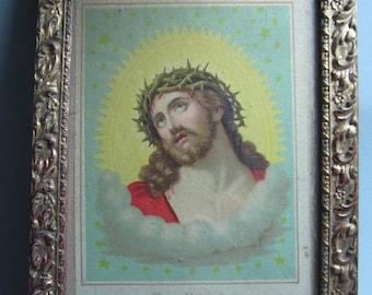 Vintage Picture Christ, Ecce Homo, framed.