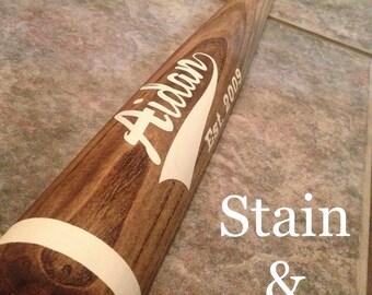 Customized 1/2 Baseball Bat Wall Decor