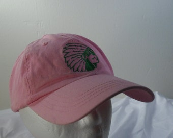 Pink Low profile Native American chief hat cap 90s 1990s