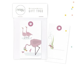 Gift tags - Flamingo | 10 pcs - 5 x 9 cm / 19.7 x 27.5 inches