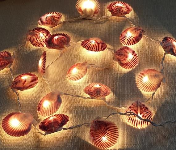 Shell garland seashell by nataliehagandesigns