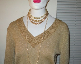 Beaded Gold Top