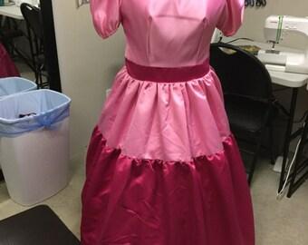 Princess Peach Princess Daisy Nintendo gowns Plus Size Ready To Ship! Cosplay Costume