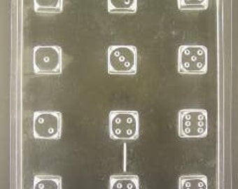 Dice cupcake/pieces  chocolate mold