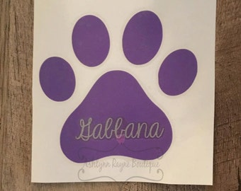 Paw Print Decal- Animal Decal- Car Decal
