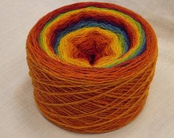 200g/7oz Kauni 8/2  Rainbow  100% Quality PURE Lambswool yarn, for hand and machine knitting. Made in Estonia