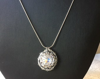 Swarovski Party Time Rivoli Crystal Pendant with chain