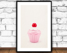 Kitchen decor, Muffin, Kitchen Wall decor, Kitchen Art, Kitchen Signs, kitchen prints,printable home decor, cute kitchen decor, pink, cream