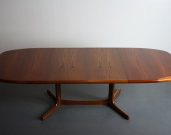 9 Ft. Danish Modern Dyrlund Teak Extension Dining Table / Conference Table