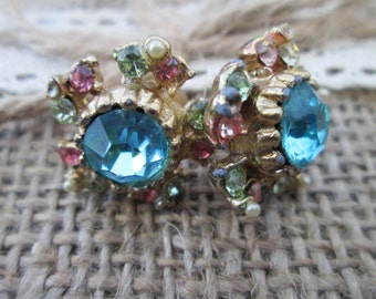 Vintage rhinestone earrings, Coro earrings rhinestone earrings