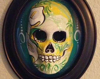 La Dodgers Skull By Mrgstyle On Etsy