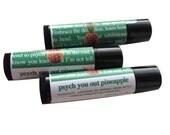 Psych Pineapple Lip Balm, Vegan Lip Balm Party Favors, TV Themed Lip Balm, 5 Pack, Homemade Lip Moisturizer, Geek Gift, Nerd Cosmetics