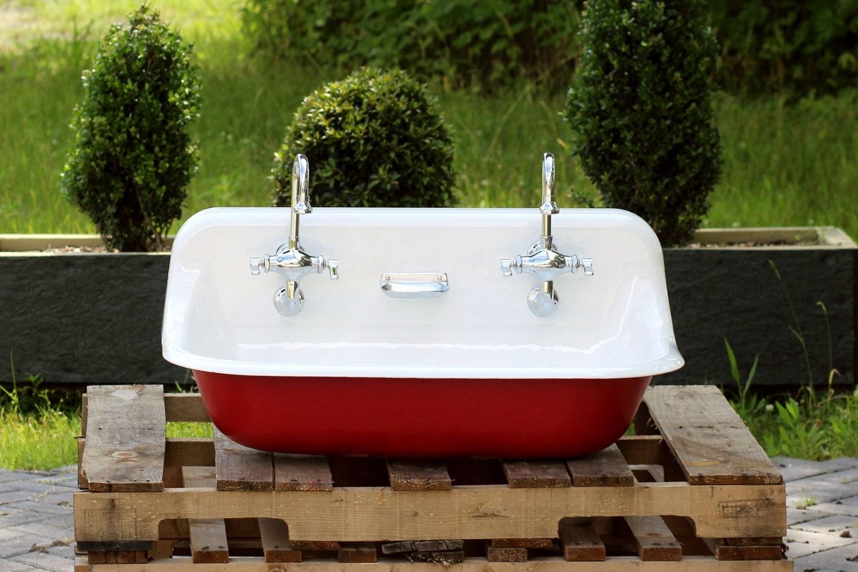 36 Antique Inspired Kohler Farm Sink Incarnadine Red