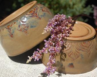Handmade Ceramic bowl set of 2, large bowls, cereal bowl, salad bowl, pasta bowl, prep bowls, rustic pottery