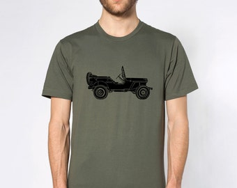 KillerBeeMoto: Limited Release Vintage Willys MB World War Two Jeep On A Short Or Long Sleeve T-Shirt