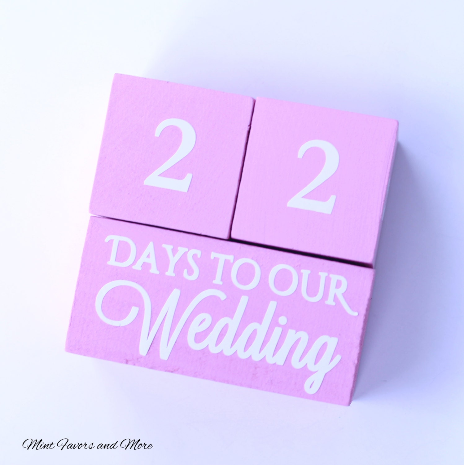 Wedding Countdown Gifts For Bride: Wedding Countdown Blocks Bridal Shower Gifts Engagement