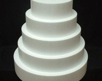 5pc cake Styrofoam