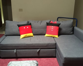 Minnie and Mickey Throw Pillows