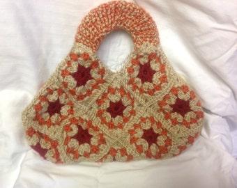 5% off Crochet granny square purse