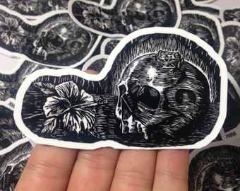 Skull and Coqui Frog Stickers