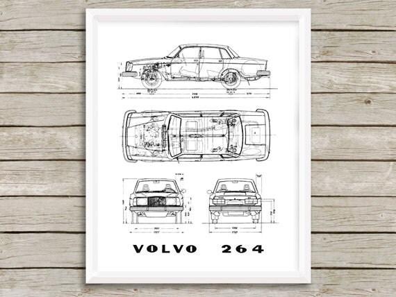 Volvo blueprint volvo 264 decor blueprint instant download volvo blueprint volvo 264 decor blueprint instant download volvo blueprint art car art scandi art retro wall art 5x7 8x10 11x14 malvernweather Choice Image