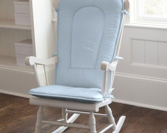 Solid Lake Blue Rocking Chair Pad by Carousel Designs