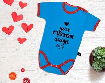 CUSTOM Baby Onesie. Custom Print Newborn Outfit. Baby shower gift. Newborn onesie. Newborn gift. Baby girl onesie. Baby bodysuit.