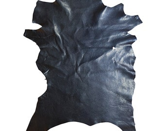 Blue genuine lambskin full leather skins in genuine leather with a textured finish FS862-6