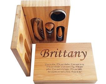 Engraved Wine Opener Set - Engraved Corkscrew - Personalized Corkscrew Set - Custom Bottle Opener - Custom Engraved Wine Opener