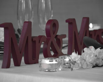 Plum Sign Mr & Mrs, Mr and Mrs wall Decorations