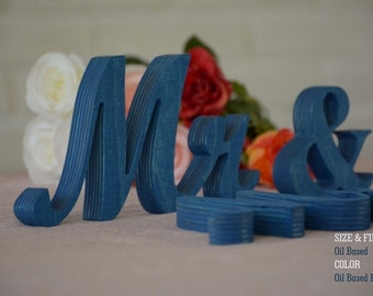 Oil Based Mr. Mrs. Sweet Heart Table Sign, Freestanding Mr and Mrs sign, Sweetheart table, Reception, Bridal Decoration