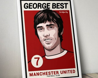 George Best - Manchester United Poster Art