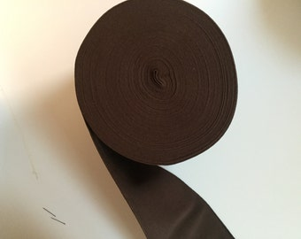 4.8 in Brown Elastic Webbing, 12 cm Brown Elastic