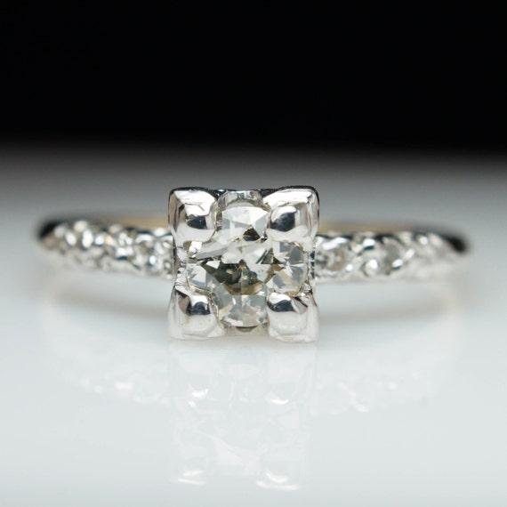 1940s engagement ring unique diamond engagement vintage