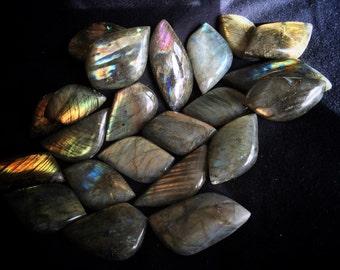 Labradorite Cabochon Stone - Increases Intuition, Psychic Development, Esoteric Wisdom, Chakra, Reiki Healing, Free Shipping