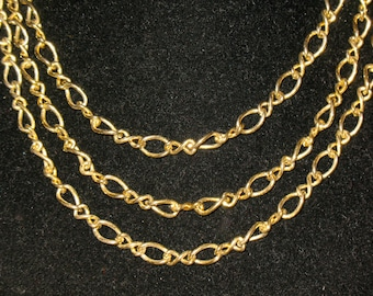Vintage Monet Large Link Figure Eight Infinity link Chain Necklace 28 inch