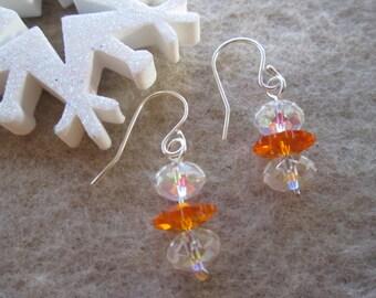 Earrings Swarovski Crystal and Sterling Silver